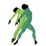 illustration för afrikansk amerikanbalettpar Arkivfoton