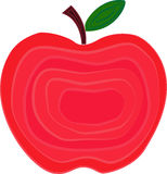 Illustration för Apple fruktvektor som dekoreras med lager royaltyfri illustrationer