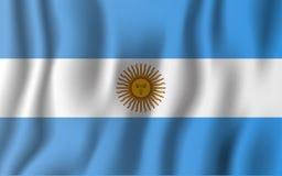 Illustration för Argentina realistisk vinkande flaggavektor Medborgare Co royaltyfri illustrationer