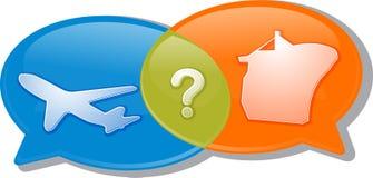 Illustration för argument för förhandling för konversation för lufthavstransport stock illustrationer