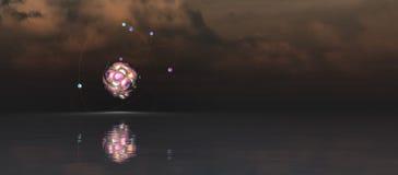 illustration för atom 3d Arkivbild