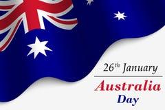Illustration för Australien dagvektor royaltyfri illustrationer