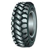 illustration för bakgrund 3d över hjulwhite för rubber gummihjul Royaltyfria Bilder