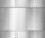 Illustration för bakgrund 3d för gammal rostfritt stålharnesk metallisk stock illustrationer