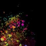 Illustration för bakgrund för färgstänk för vattenfärg för valentinbegreppsabstrakt begrepp Royaltyfria Foton