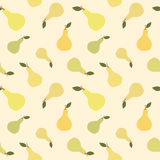 Illustration för bakgrund för modell för gullig päronfrukt sömlös Royaltyfri Bild