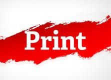 Illustration för bakgrund för röd borste för tryck abstrakt vektor illustrationer