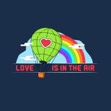 Illustration för ballong för varm luft Arkivbild