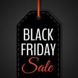 Illustration för baner för affisch för Black Friday försäljningsvektor arkivfoto