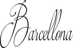 Illustration för Barcellona texttecken Arkivbild