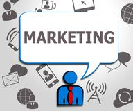 Illustration för befordringar 3d för marknad för marknadsföringsWebsiteshower vektor illustrationer