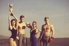 Illustration för begrepp 3D grupp människor eller sportlag av mankvinnor Royaltyfria Foton