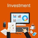 Illustration för begrepp för affärsinvestering Räcka att peka affär kartlägger Royaltyfri Bild