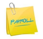 illustration för begrepp för tecken för lönelistaminneslistastolpe vektor illustrationer