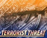 Illustration för begrepp för terroristhotabstrakt begrepp digital Fotografering för Bildbyråer