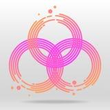 Illustration för beståndsdelar för cirkelrastlös människaspinnare Royaltyfria Bilder