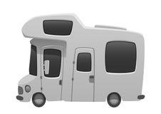 Illustration för bil för sommar för tecknad film för lopp för campareskåpbil stock illustrationer
