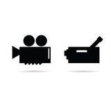 Illustration för biokamerasymbol Fotografering för Bildbyråer