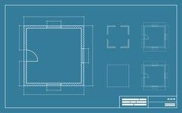 Illustration för blått tryck Arkivbilder