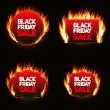 Illustration för Black Friday Sale etikettvektor stock illustrationer