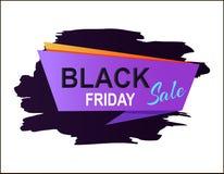 Illustration för Black Friday Sale plakatvektor Royaltyfri Foto