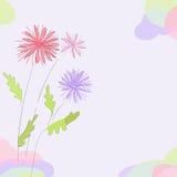 illustration för blommor för bakgrundskortdesign din blom- Arkivbild