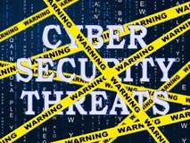 Illustration för brotts- risk för Cybersecurity hotCyber 2d stock illustrationer