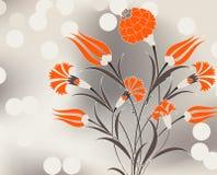 illustration för bukettnejlikadesign Royaltyfri Bild