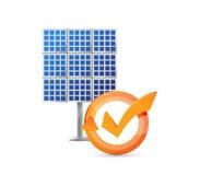 illustration för cirkulering för solpanelkontrollfläck fotografering för bildbyråer