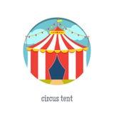 Illustration för cirkustält stock illustrationer