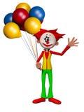 Illustration för clown 3d Arkivbild