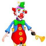 Illustration för clown 3d Arkivfoto