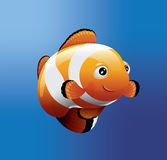 Illustration för clownFish 3D vektor Royaltyfri Fotografi