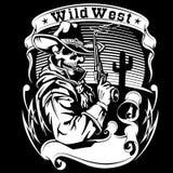Illustration för cowboyrevolvervektor vektor illustrationer