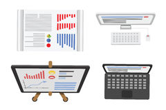 Illustration för datorbärbar datorvektor Royaltyfri Fotografi
