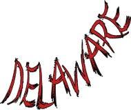 Illustration för Delaware texttecken royaltyfri fotografi