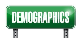 illustration för demographicsgatatecken royaltyfri illustrationer
