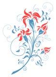 illustration för design för bakgrundbakgrundskort blom- Arkivfoto