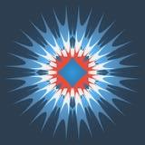illustration för design för bakgrundbakgrundskort blom- abstrakt färgrik blomma Arkivbild