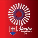 Illustration för design för mall för Slovakien självständighetsdagenvektor - vektor stock illustrationer