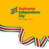 Illustration för design för mall för Surinam självständighetsdagenvektor stock illustrationer