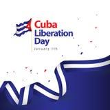 Illustration för design för vektor för Kubabefrielsedag stock illustrationer