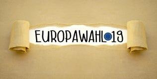 Illustration för det europeiska valet 2019 fotografering för bildbyråer