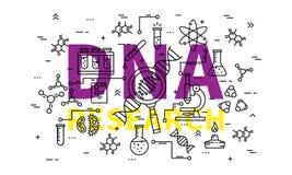 Illustration för DNAforskningvektor Royaltyfri Bild