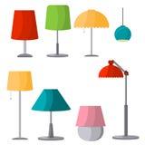 Illustration för elkraft för design för ljus för lampmöblemanguppsättning vektor illustrationer