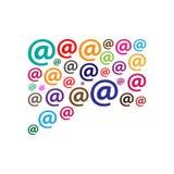 Illustration för Emailmarknadsföringsvektor Fotografering för Bildbyråer