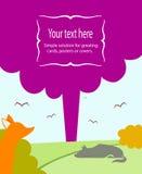 Illustration för ett hälsningkort Royaltyfria Bilder