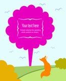 Illustration för ett hälsningkort Royaltyfri Fotografi