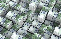 Illustration för europengarräkningar 3d Arkivbilder