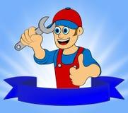 Illustration för faktotumRepair Displays Home Repairman 3d Vektor Illustrationer